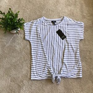 Striped Blouse with Knot